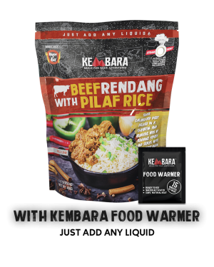Beef Rendang with Pilaf Rice (With Food Warmer)