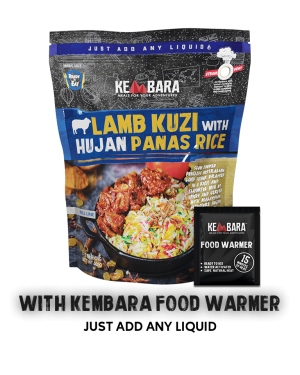 Lamb Kuzi with Hujan Panas Rice (With Food Warmer)